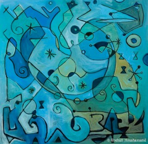 """Symphony in Blue,"" Roshan Houshmand"