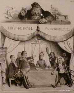 Théatre Royal des Marionettes, Honoré Daumier