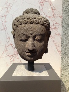 Head of Buddha, Indonesian, 9th century