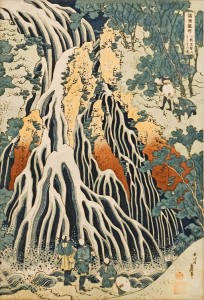 "Hokusai, ""Waterfall,"" Musée Guimet, Paris; photo by dalbera"