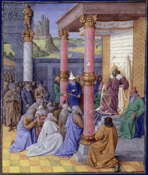 """Jean Fouquet, """"La clémence de Cyrus II le Grand envers les Hébreux"""""""