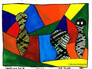 "Michel Bellaiche, ""Looking Back,"" 2015"