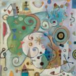 Roshan Houshmand, Lightfall, 22 x 22 inches, oil on canvas