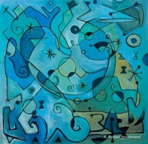 Roshan Houshmand, Symphony in Blue, 24